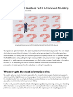 Business Analyst How to Ask the Right Questions Part 3 a Framework for Asking