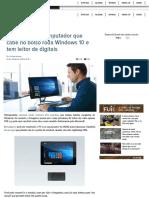 Este Pequeno Computador Que Cabe No Bolso Roda Windows 10 e Tem Leitor de Digitais - Gizmodo Brasil
