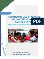 2. Resumen de Las 6 Falacias de La Educación en América Latina Informe Kliksberg