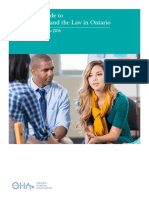 A Practical Guide to Mental Health and the Law in Ontario, Revised Edition, September 2016