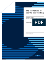 UK P2PFA 2016.09.30 - Oxera Report - The Economics of P2P Lending
