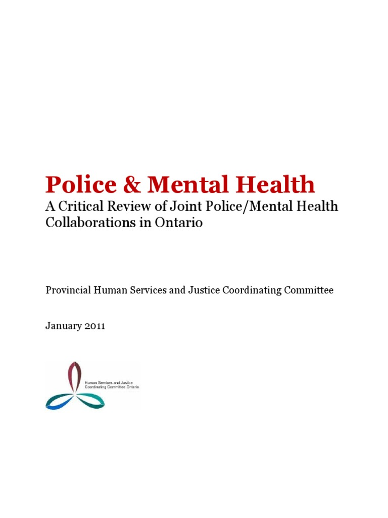 police and mental health - a critical review of joint police