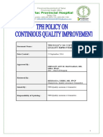 Tph Quality Assurance Policy