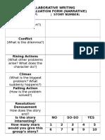 Collaborative Narrative - Peer-Evaluation Sheet