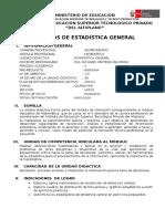 Silabus Estadística General