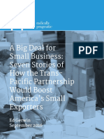 Ed Gerwin - Seven Stories of How the TPP Would Boost America's Small Exporters