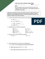 gr 4 unit 1 part 4 study guide division