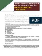 Simulado Lei 1.11091 - Tec. Administrativos Em Educação