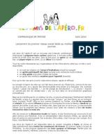 Communiqué de presse des amis de l'apéro .fr