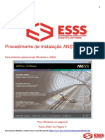 Instalação ANSYS 15 0 - Windows & Linux