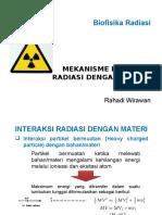Mekanisme Interaksi Radiasi