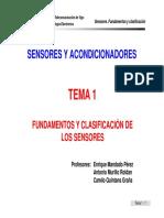 Sensores, Fundamentos y Clasificacion