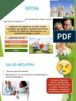 Salud Positiva y Negativa