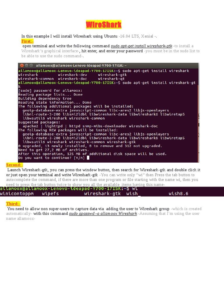 Wire Shark | Networking Standards | Internet Standards