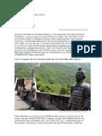 La Historia de La Muralla China
