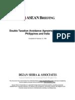 ASEAN DTA Philipines India