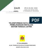 SPLN S5.002 2008 TELE INFORMASI DATA UNTUK PEMELIHARAAN INSTALASI SISTEM TL.pdf
