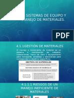 Cap 4. Sistema de Equipo y Manejo de Materiales