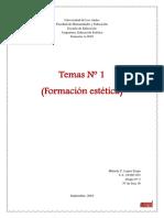 Tema Nº 1 Formacion Estetica