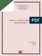 Tema Nº 3 Tratamiento Pedagogico