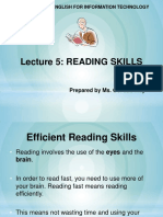 Lecture 5 - Reading Skills