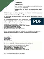 Atividades de Fixação Para p1
