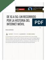 La Historia Del Internet Móvil • ENTER