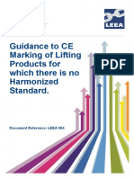 LEEA-064 Guidance to CE Marking of Lifting Equipment for Which There is No Harmonised Standard Version 1 July 2015