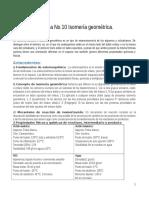 Practica 10. Isomeria Geometrica