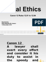 Canon 12 (Rules 12.01-12.04)