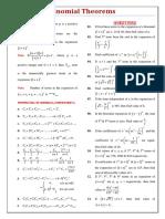 Binomial Theorems