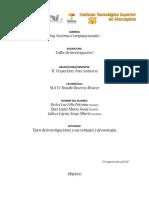 Tipos de Investigación - Taller de Inv.1