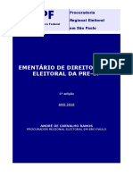 Ementa_rio Direito Penal Eleitoral - PRE-SP - 2016