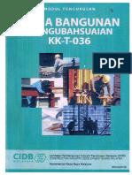 Kerja Bangunan Pengubahsuaian KK T 036 CIDB