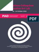 PIAD First Nations Colloquium & Creative Arts Lab
