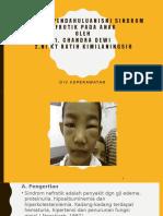 Laporan Pendahuluan Sindrom Nefrotik Pada Anak