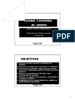 Control y Auditoria de Gestion