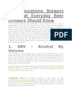 5 Abbreviations Brewers Use That Everyday Beer Drinkers Should Know