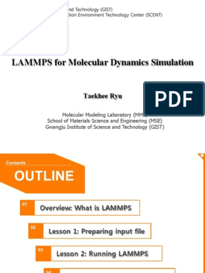 Lammps_Tutorial_20120706 pdf | Crystal Structure | Force