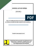 KAK Pra FS Pembangunan Waduk Subayang