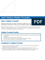 Pollution Prevention in Metal Finishing Process