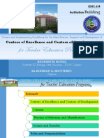 Centers of Excellence and Centers of Development