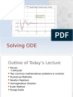 Lecture 8 Solving ODE