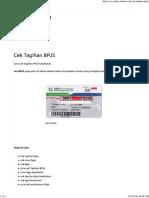 Cek Tagihan BPJS - BPJS Online