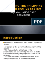 Rpofiling the Philippine Adminstrative System