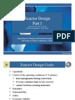 Reactors I - Fa 2015