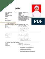 Contoh CV Bahasa Inggris