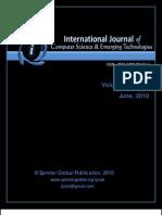 IJCSET Vol 1 Issue 1 June 2010