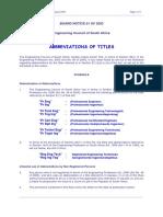 Abbreviations Professional Titles