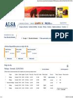 Elección de Horario - ALSA
